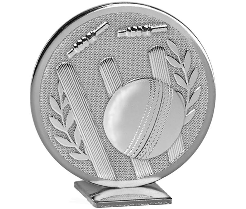 "Silver Global Cricket Self Standing Award 60mm (2.25"")"