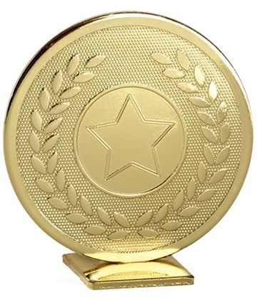 "Gold Global Star & Laurel Leaf Self Standing Award 60mm (2.25"")"