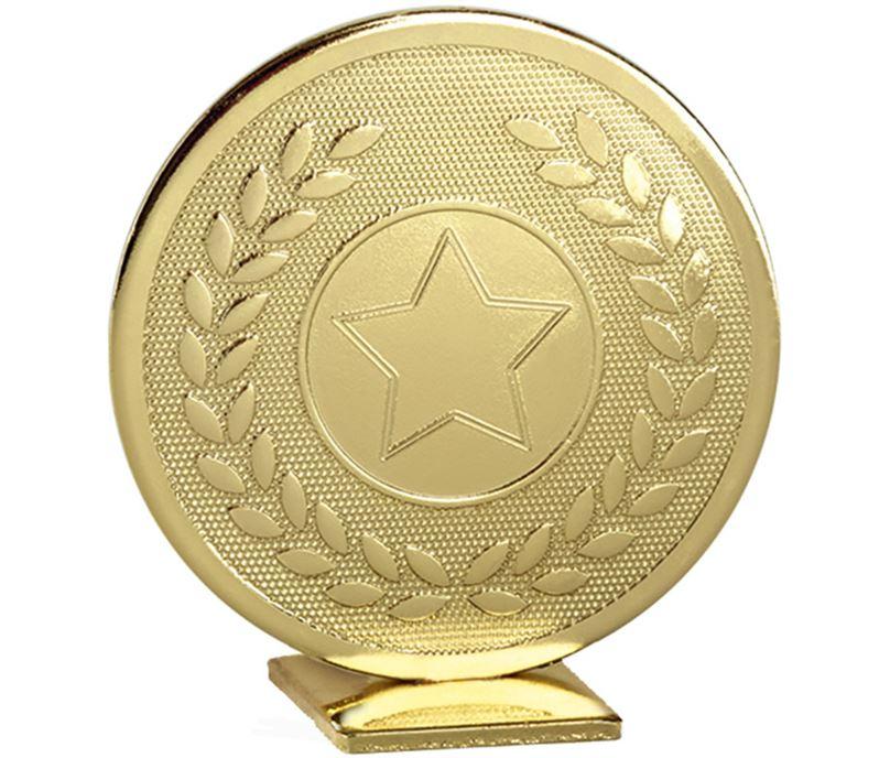 """Gold Global Star & Laurel Leaf Self Standing Award 60mm (2.25"""")"""