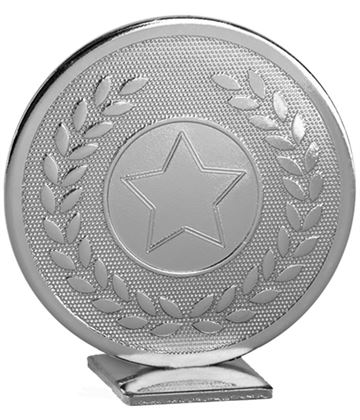"Silver Global Star & Laurel Leaf Self Standing Award 60mm (2.25"")"