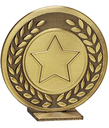 "Bronze Global Star & Laurel Leaf Self Standing Award 60mm (2.25"")"