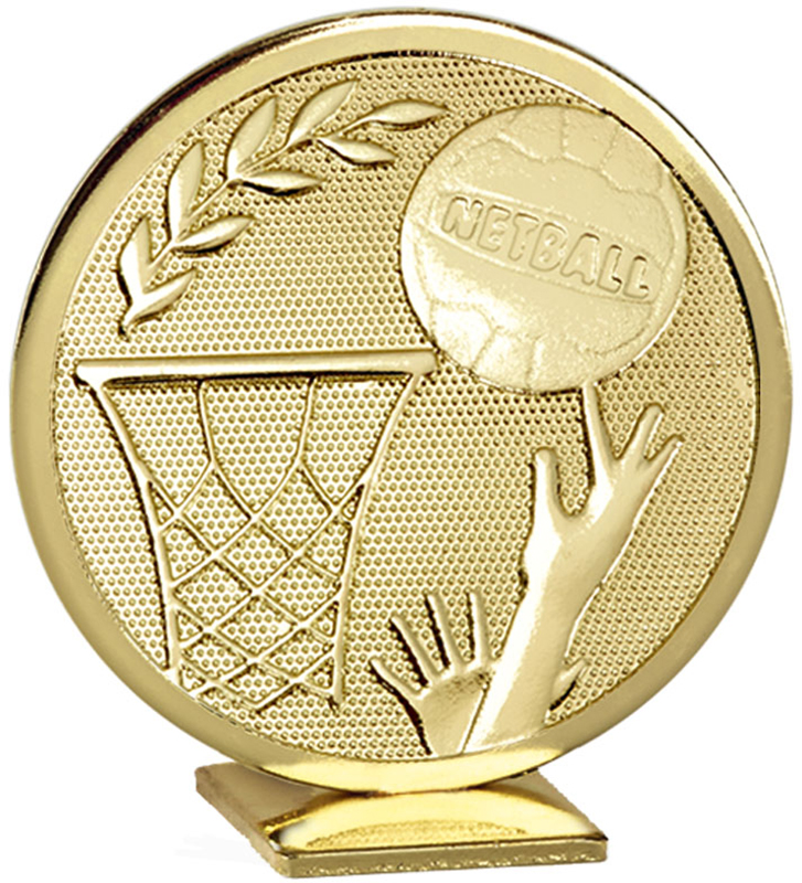 "Gold Global Netball Self Standing Award 60mm (2.25"")"