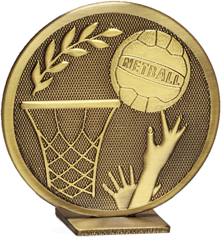 "Bronze Global Netball Self Standing Award 60mm (2.25"")"