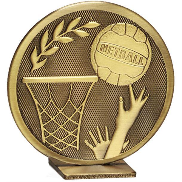 "Bronze Global Netball Self Standing Award 60mm (2.25"")"