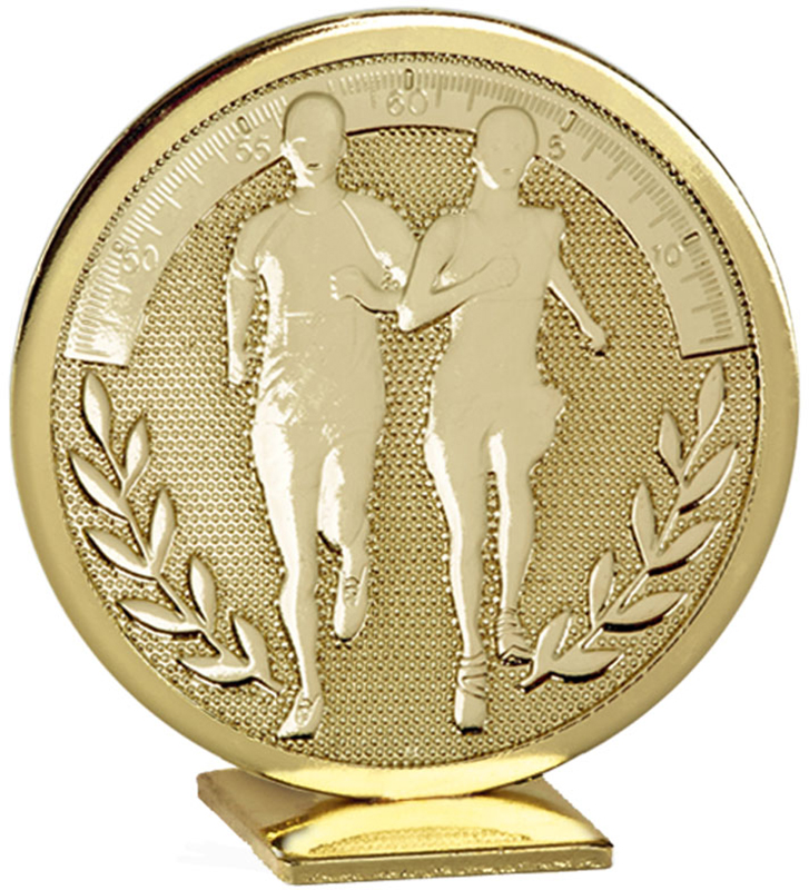 "Gold Global Running Self Standing Award 6cm (2.25"")"