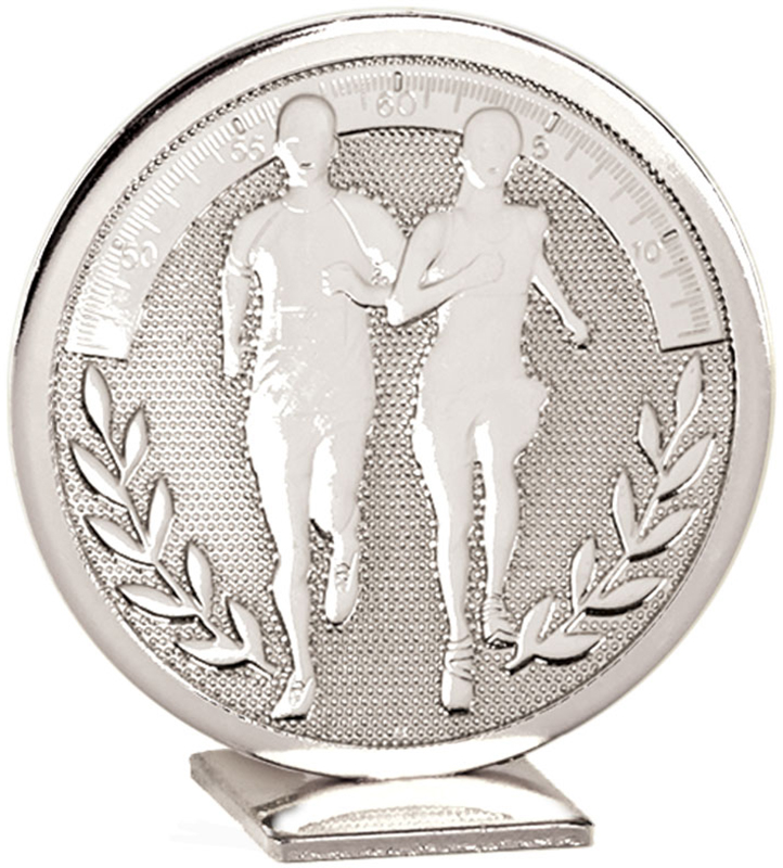 "Silver Global Running Self Standing Award 6cm (2.25"")"