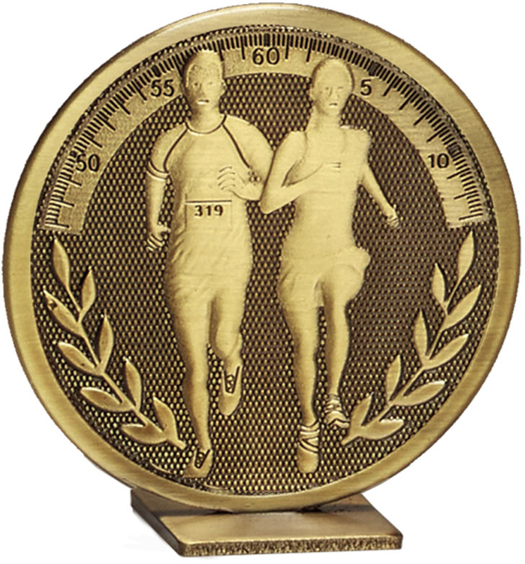 "Bronze Global Running Self Standing Award 6cm (2.25"")"