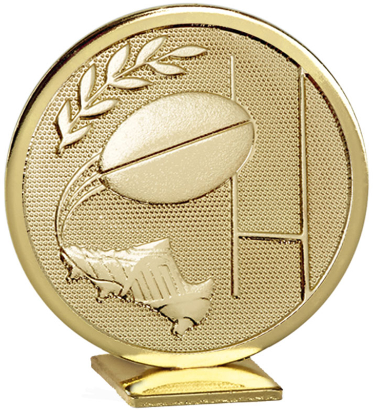 "Gold Global Rugby Self Standing Award 60mm (2.25"")"
