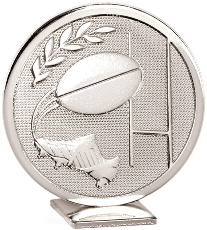 "Silver Global Rugby Self Standing Award 60mm (2.25"")"