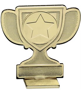 "Achievement Cup Self Standing Medal Gold 60mm (2.25"")"