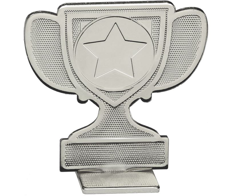 "Achievement Cup Self Standing Medal Silver 60mm (2.25"")"
