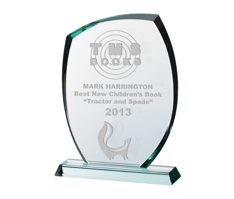 "Clear Cut Arch Glass Award on Flat Glass Base 26.5cm (10.5"")"