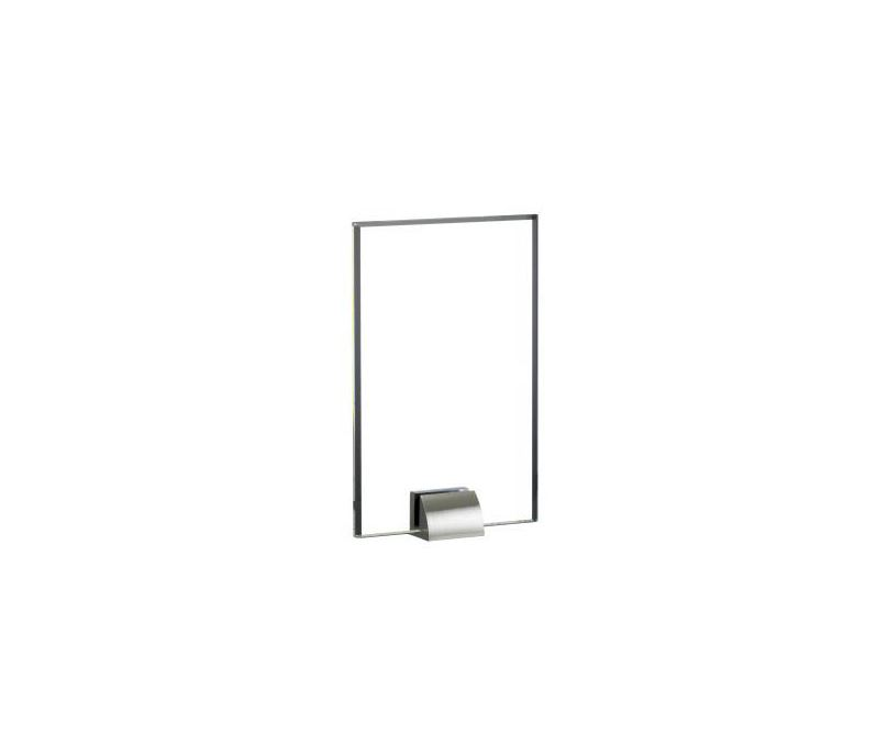 """Rectangle Glass Award with Silver Stand 20.5cm (8"""")"""