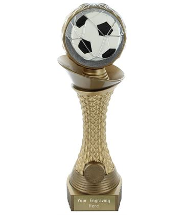 "Football Trophy Heavyweight Hemisphere Tower Gold & Bronze 25.5cm (10"")"