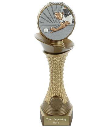 "Snooker Trophy Heavyweight Hemisphere Tower Gold & Bronze 30.5cm (12"")"