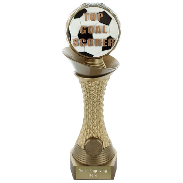 """Top Goal Scorer Trophy Heavyweight Hemisphere Tower Gold & Bronze 23cm (9"""")"""