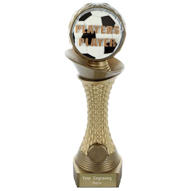 "Players Player Trophy Heavyweight Hemisphere Tower Gold & Bronze 25.5cm (10"")"