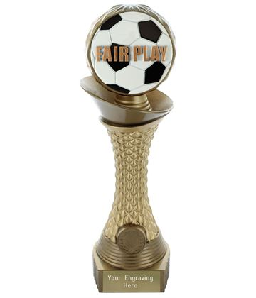 "Fair Play Trophy Heavyweight Hemisphere Tower Gold & Bronze 25.5cm (10"")"