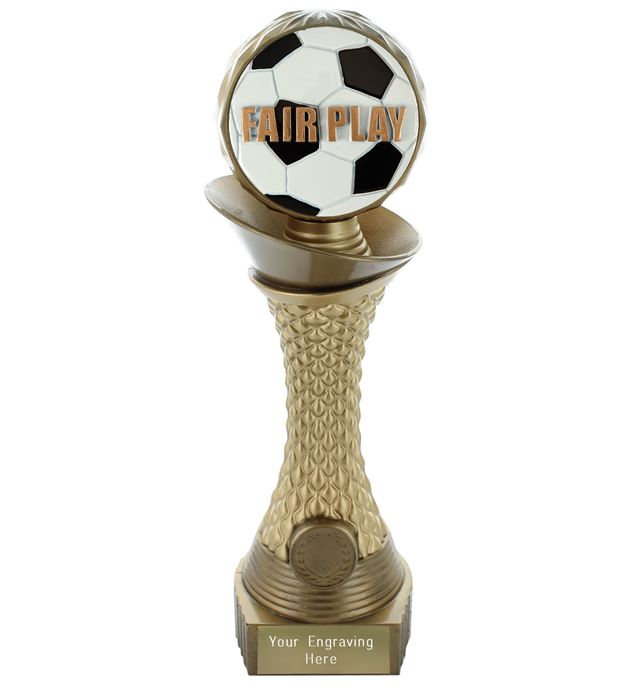 "Fair Play Trophy Heavyweight Hemisphere Tower Gold & Bronze 25.5cm (10"")"