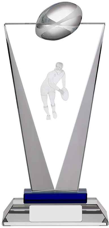 "Rugby Pinnacle Glass Award 20.5cm (8"")"