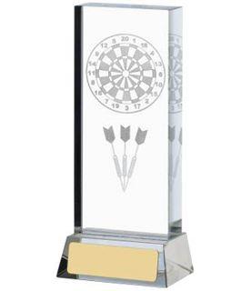 """Darts & Dartboard Glass Column Award 14.5cm (5.75"""")"""