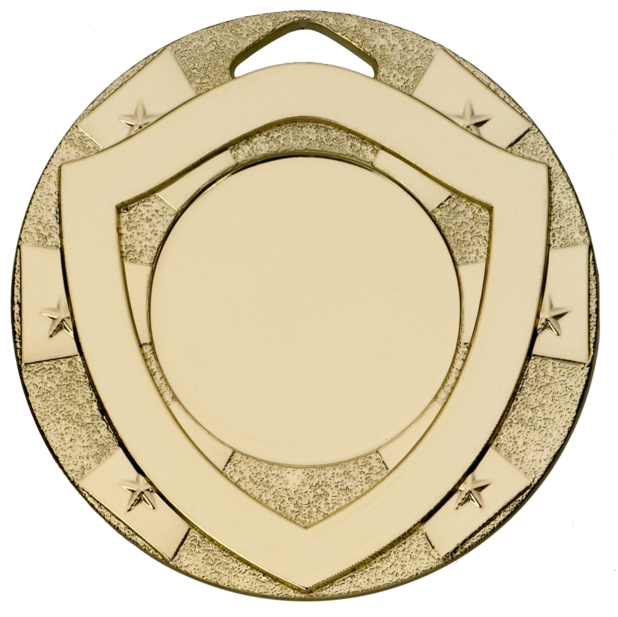 "Gold Mini Shield Medal 50mm (2"")"