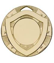 "Gold Mini Shield Medal 50mm (2"")"