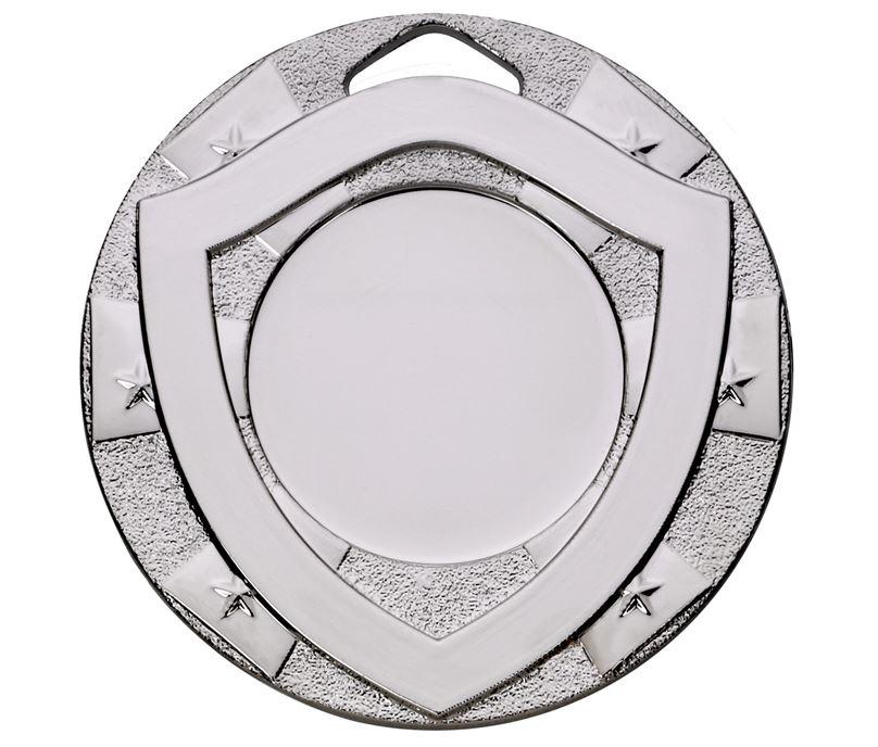 "Silver Mini Shield Medal 50mm (2"")"