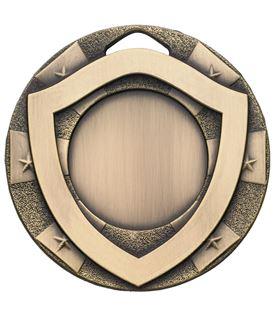 "Bronze Mini Shield Medal 50mm (2"")"