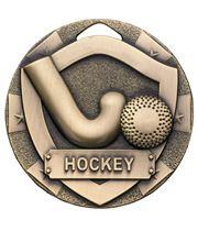 "Bronze Mini Shield Hockey Medal 50mm (2"")"