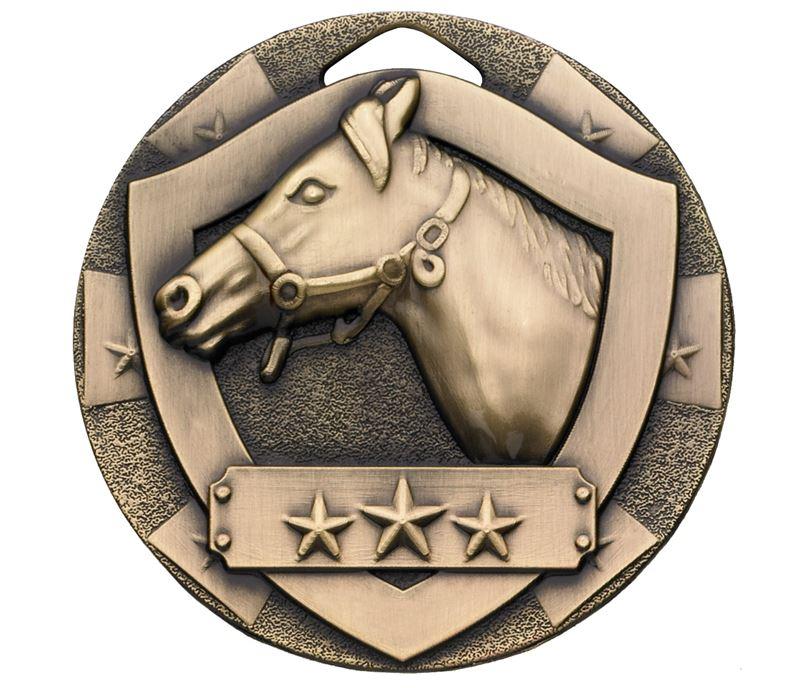 "Bronze Mini Shield Equestrian Medal 50mm (2"")"