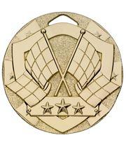 "Gold Mini Shield Flag Medal 50mm (2"")"