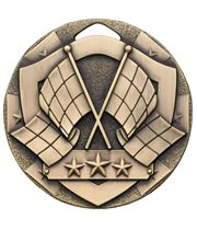 "Bronze Mini Shield Flag Medal 50mm (2"")"