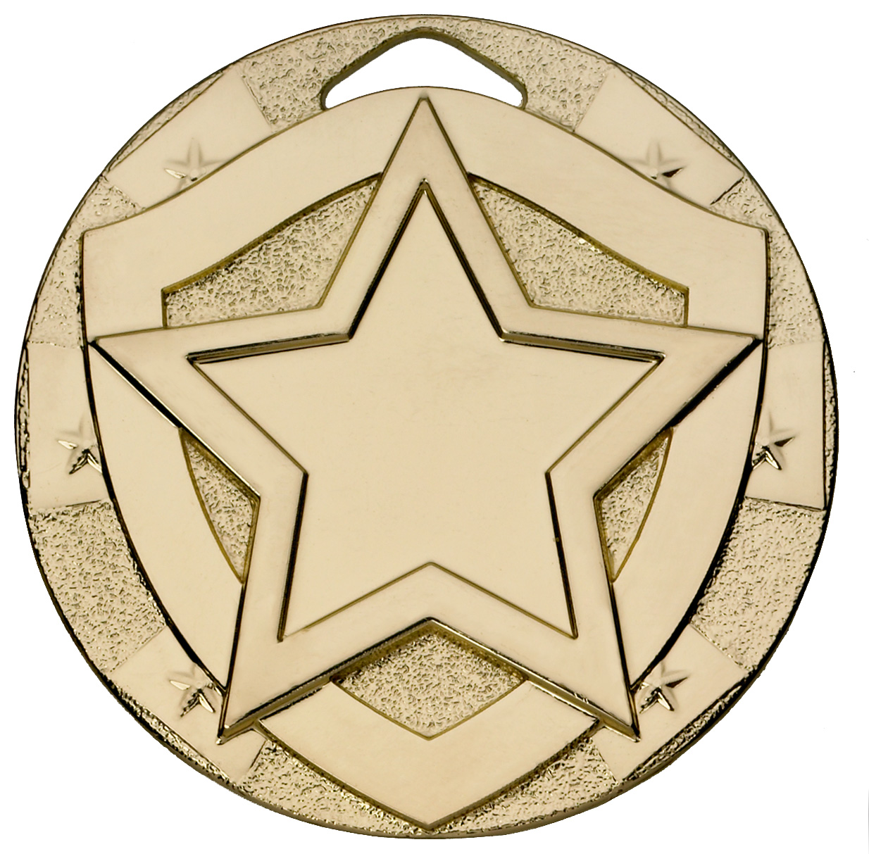 "Gold Mini Shield Star Medal 50mm (2"")"