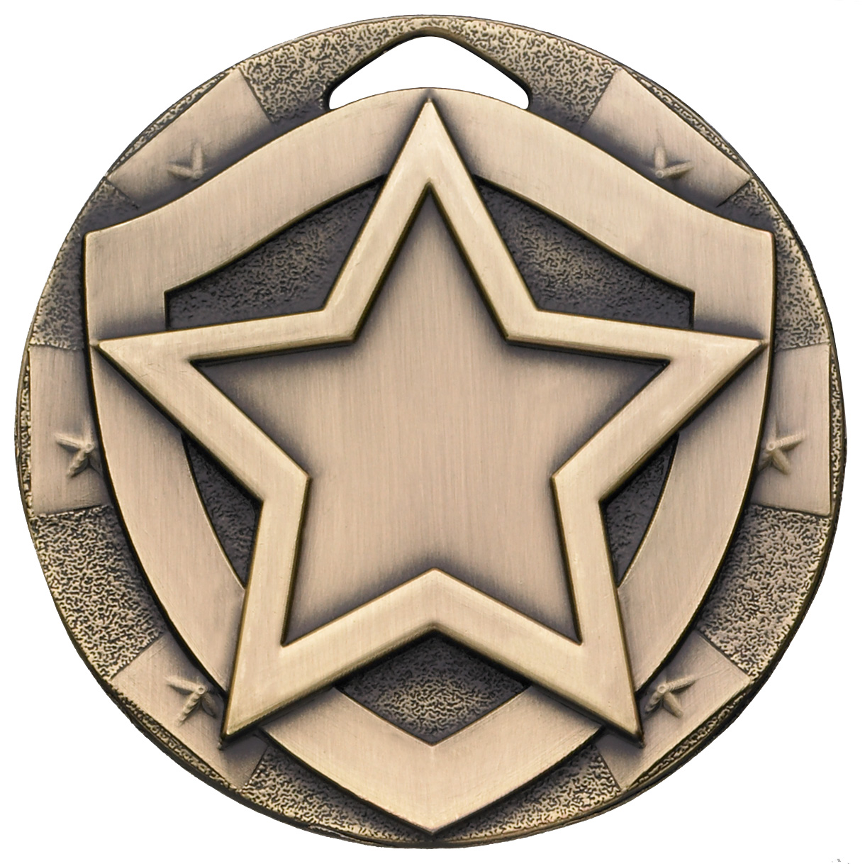 "Bronze Mini Shield Star Medal 50mm (2"")"