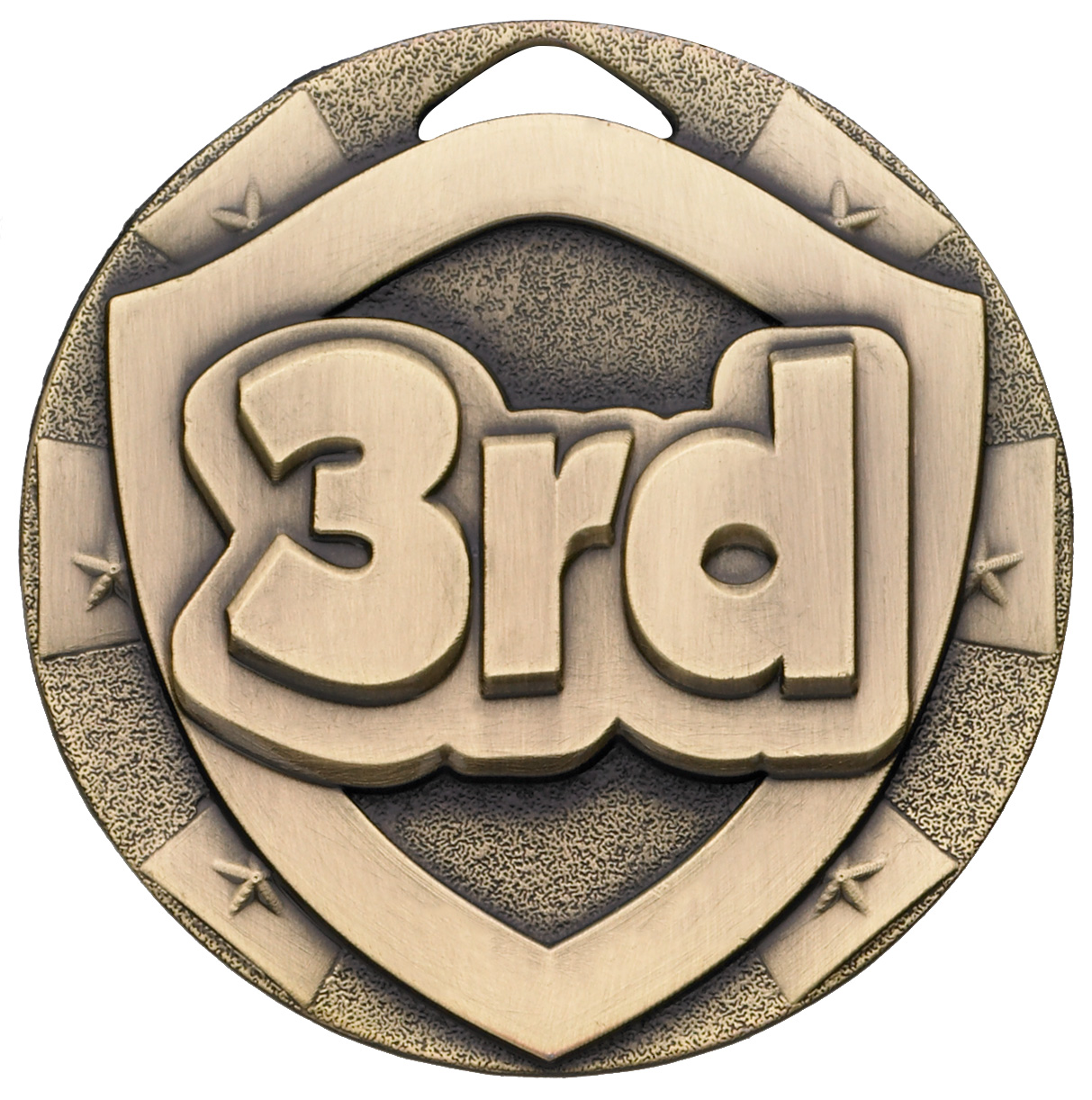 "Bronze Mini Shield 3rd Medal 50mm (2"")"