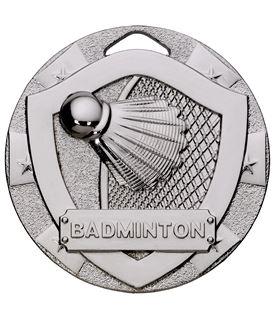 "Silver Mini Shield Badminton Medal 50mm (2"")"