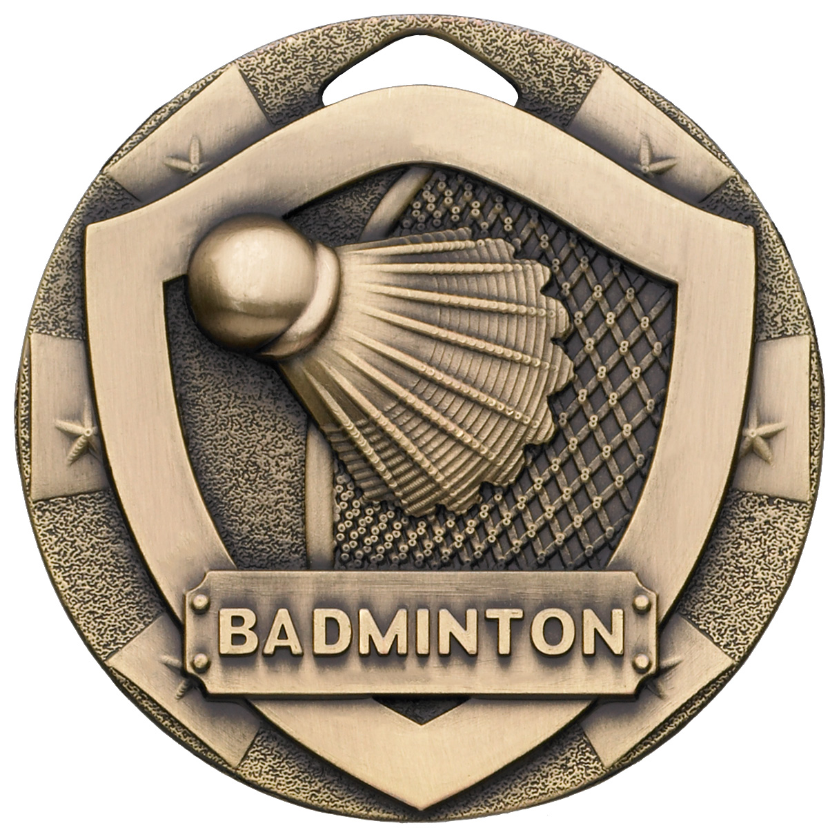 "Bronze Mini Shield Badminton Medal 50mm (2"")"
