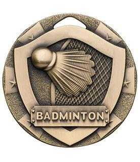 "Bronze Mini Shield Badminton Medal 50mm (2"")"