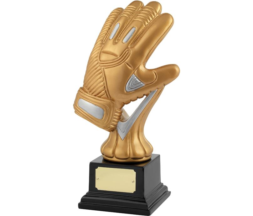 "Satin Gold & Silver Resin Goal Keeper Trophy 26.5cm (10.5"")"