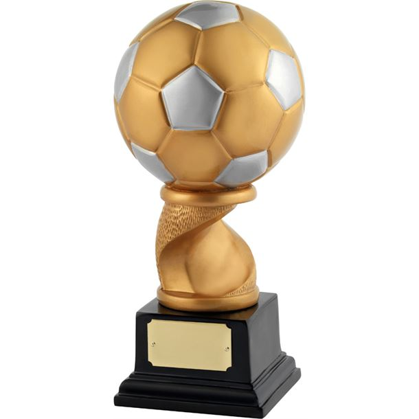 "Satin Gold & Silver Resin Football Trophy 25.5cm (10"")"