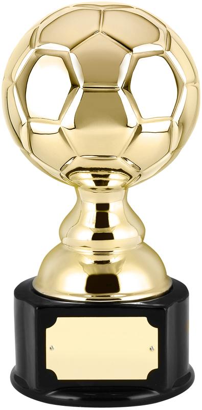 "High Gloss Gold Ceramic Football Trophy 19.5cm (7.75"")"