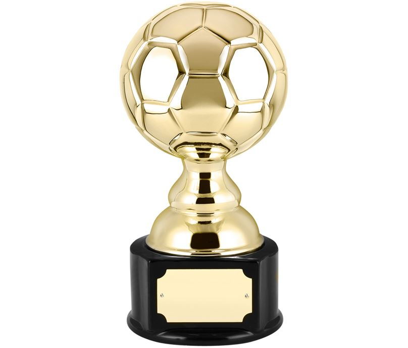 "High Gloss Gold Ceramic Football Trophy 19.5cm (7.75"")"