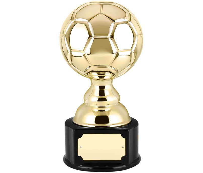 "High Gloss Gold Ceramic Football Trophy 23cm (9"")"