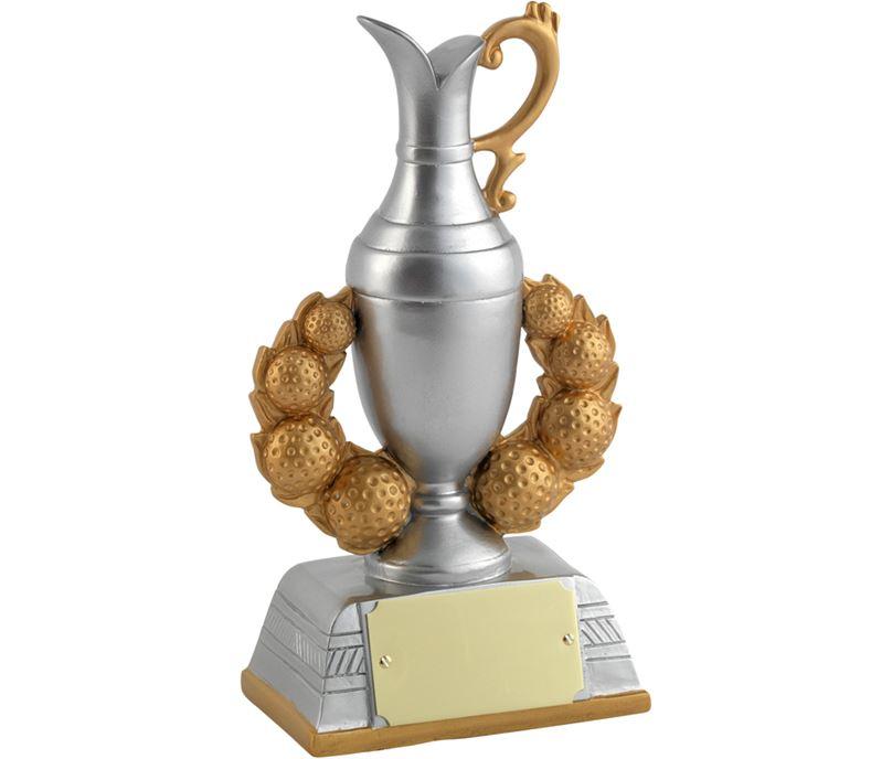 """Gold/Silver Resin Claret Jug Golf Trophy 17cm (6.75"""")"""