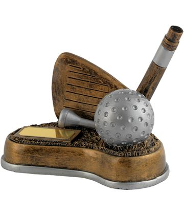 "Antique Gold Resin Nearest The Pin Golf Trophy 12cm (4.75"")"