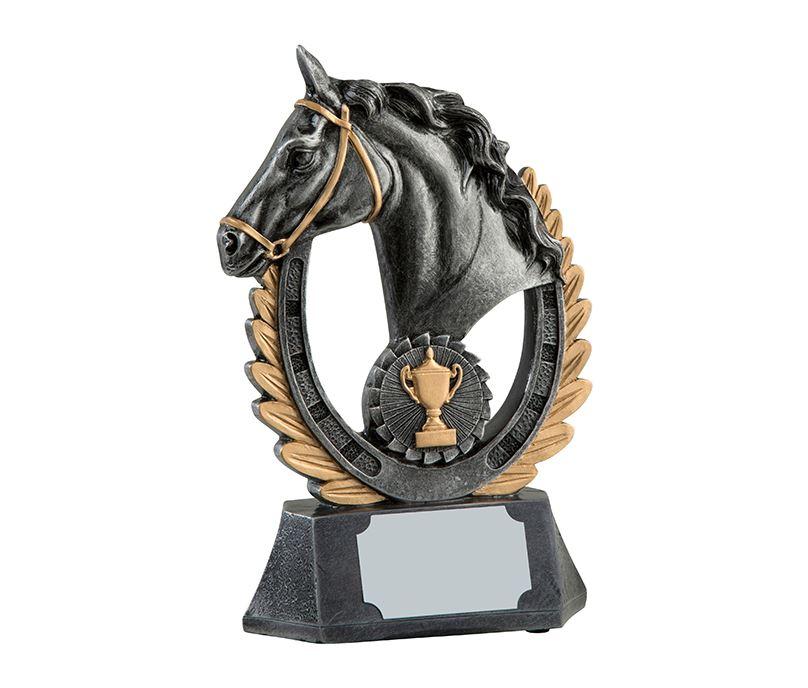 "Antique Silver Finished Laurel Wreath Equestrian Trophy 20.5cm (8"")"