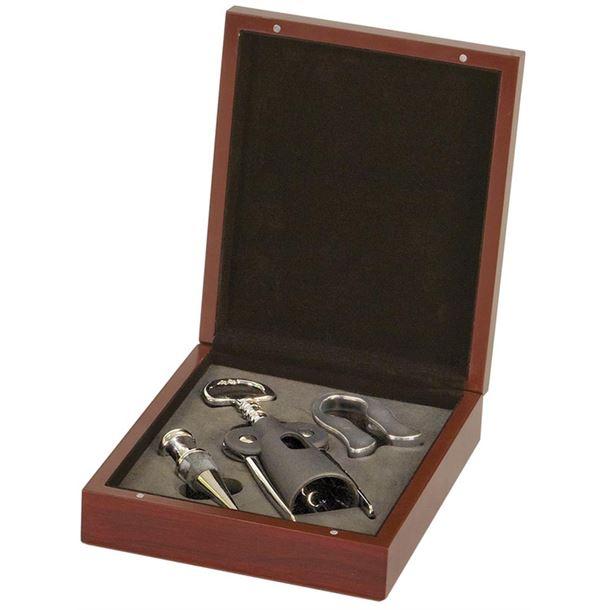 Rosewood 3-Piece Wine Tool Set 19.5cm x 17cm