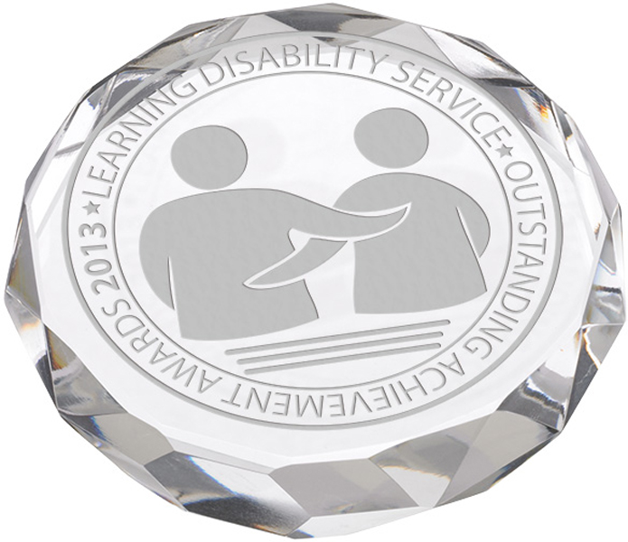 Glass Crystal Round Paperweight 90mm