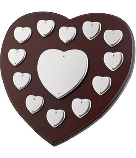 "Perpetual Heart Shield 25.5cm (10"")"